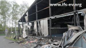 Massive Brandschäden an der Halle