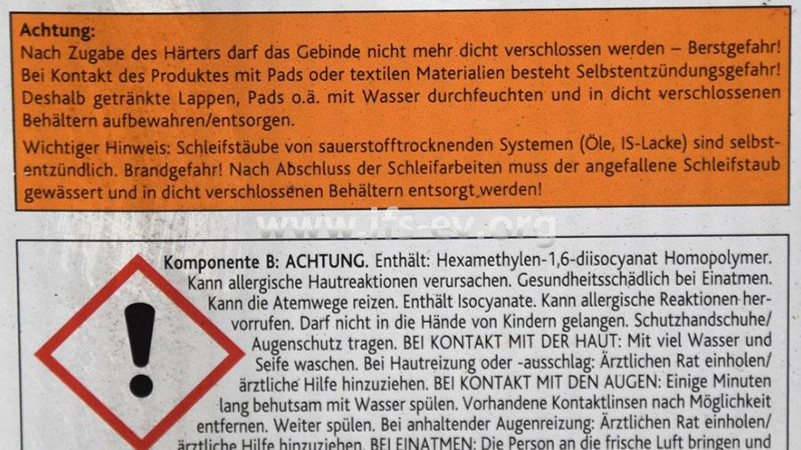 Der Hersteller weist auf der Verpackung sehr deutlich auf die Gefahren und die korrekte Handhabung hin.