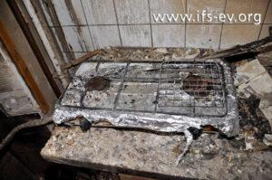 Der Gaskocher wurde zum Entzünden der Shisha-Kohle verwendet.