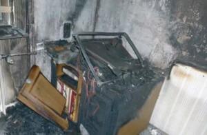 defekter Fernseher verursacht einen Brand