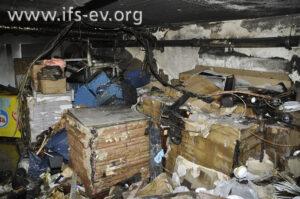 Der Brandschwerpunkt im Keller
