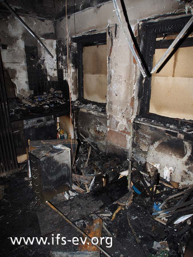 Die größten Brandschäden gibt es in der Personalküche.