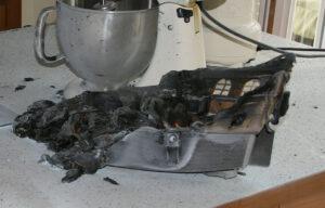 Das Wrack auf der Kücheninsel