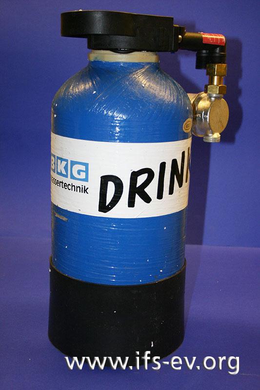 Die Wasserfilterpatrone bei der Laboruntersuchung.