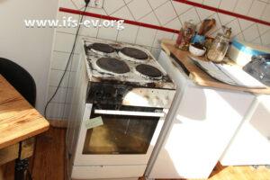 Der Brand blieb auf den Küchenherd begrenzt.