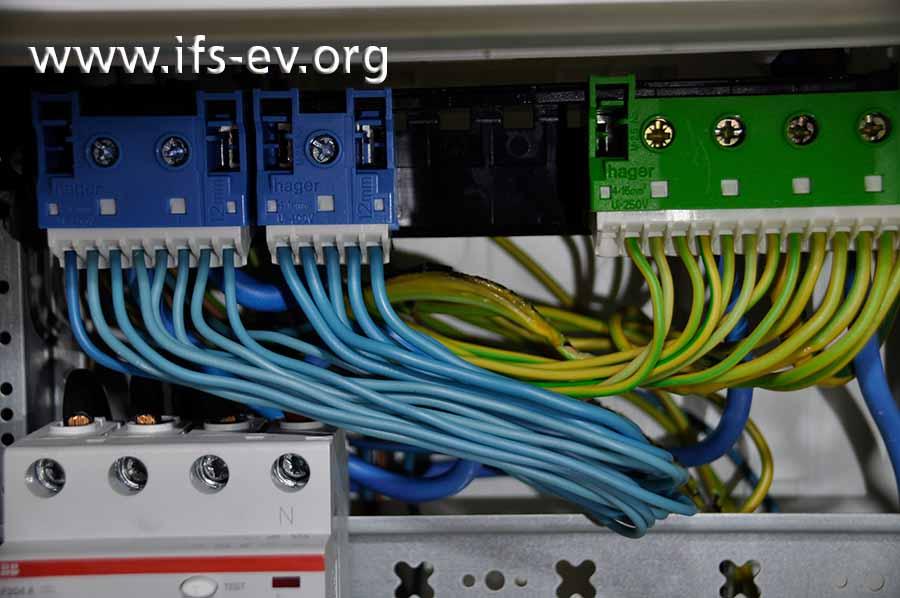Auch in der Elektroverteilung sind am Schutzleiter der Leitung für die Stromversorgung der Fernwärmestation thermische Schäden zu sehen.