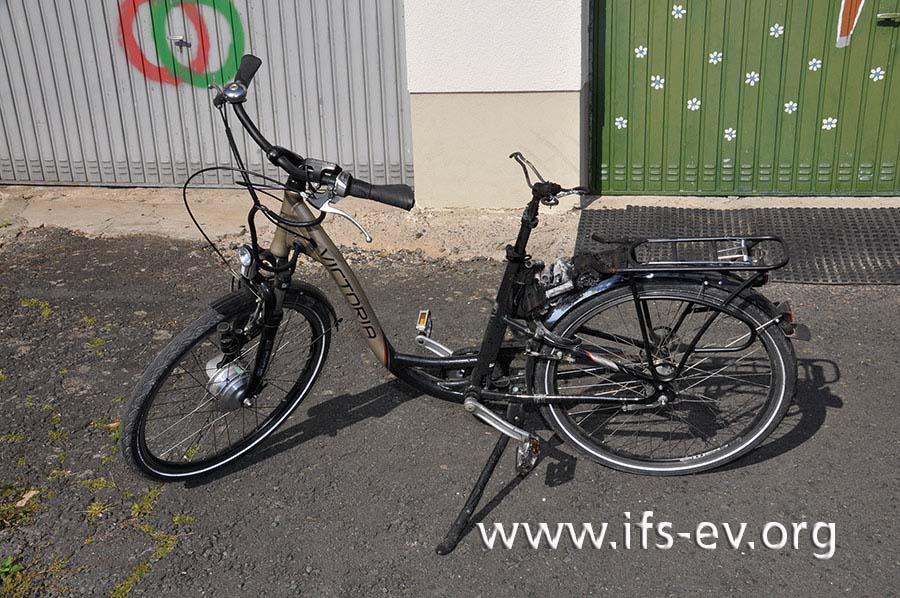 """Der Akku dieses """"Victoria Münster""""-E-Bikes war in Brand geraten."""