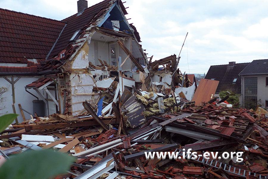 Die Doppelhaushälfte wurde zerstört, nachdem ein Gasheizer manipuliert wurde.