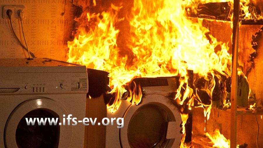 Beispielbild: brennender Wäschetrockner