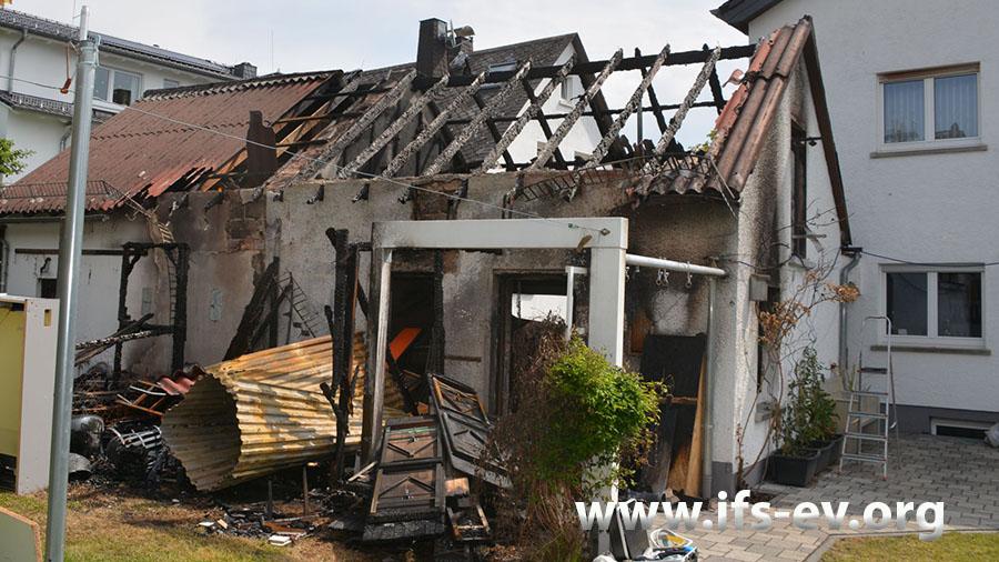 Das betroffene Gartenhaus