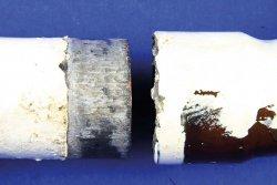 Typisches Frostschadenbild: eine getrennte Lötverbindung