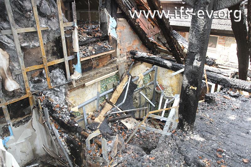 Massive Schäden im Dachgeschoss
