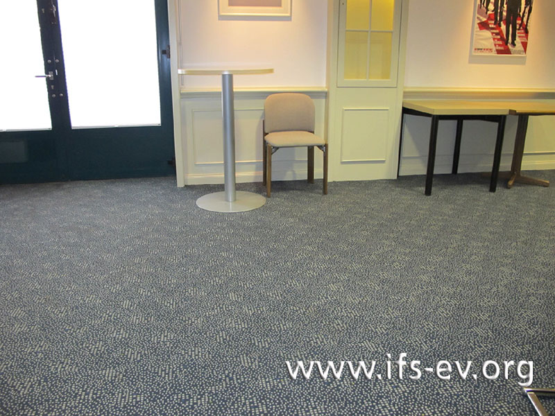 Der Sitzungsraum gehört zum zweiten Sanierungsbereich.