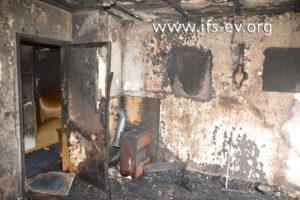 Das ausgebrannte Wohnzimmer