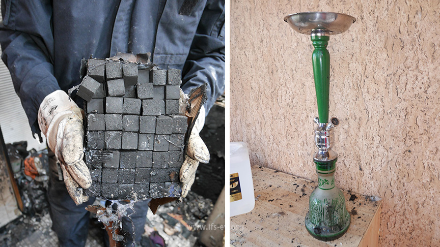 In der Wohnung fand der Gutachter eine Shisha und eine Menge Kohlewürfel.